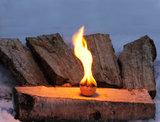 Syttis Finse vuuraanmaak bollen op hout
