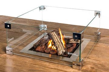 Glazen ombouw Happy Cocooning Tafel inbouwbrander vierkant