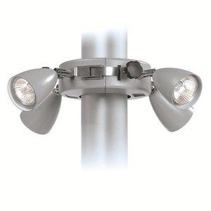 Solamagic parasolverlichting titanium terrasverwarming