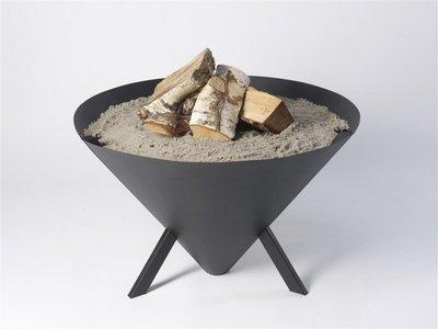Bonfire kegel vuurschaal zand en hout
