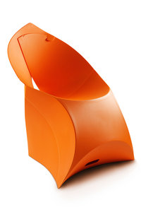 Flux chair bright orange FCH0005