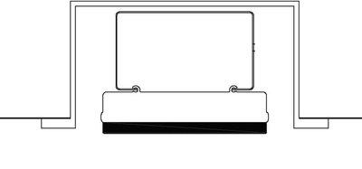 GrandHall Heatstrip Inbouwframe THD2400